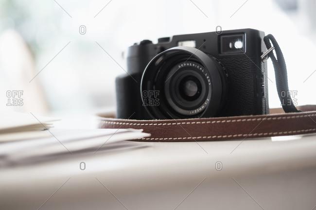 Digital camera on desk
