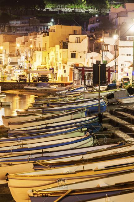 Rowboats on beach, Capri