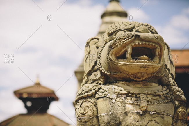 Statues adorn the city of Baktapur