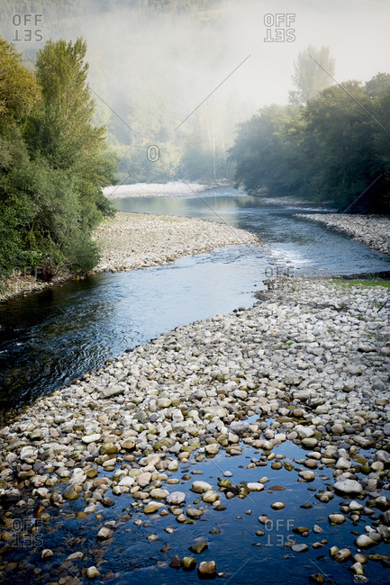 A river in northern Spain winds its way through Asturias near the Camino Primitivo