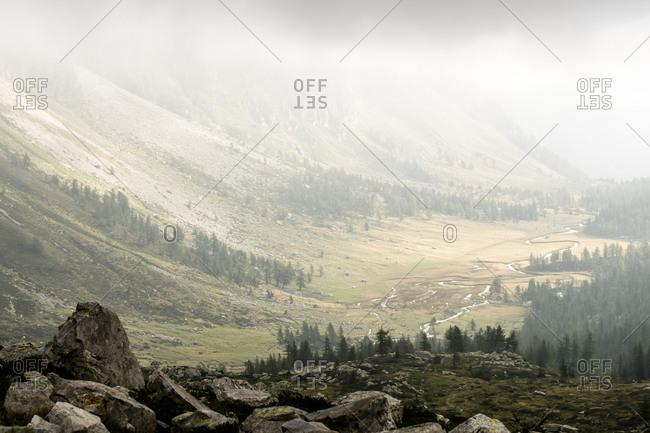 Valley landscape in Devero National Park, Piemonte, Italy