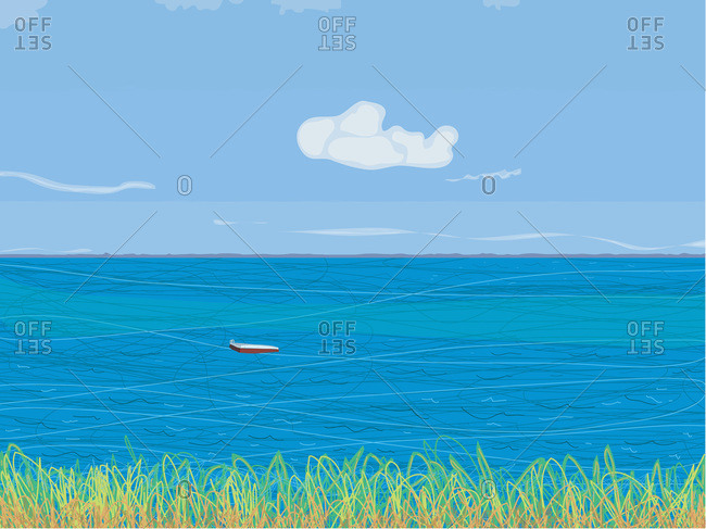 View of ocean from Martha's Vineyard in Massachusetts