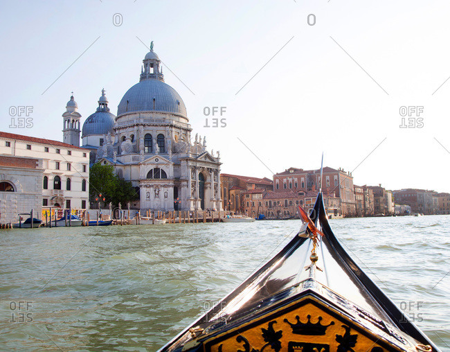 Santa Maria del Salute cathedral from the Grand Canal in Venice, Italy