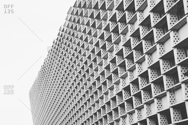 Dotted pattern on facade of building in Amsterdam, Netherlands