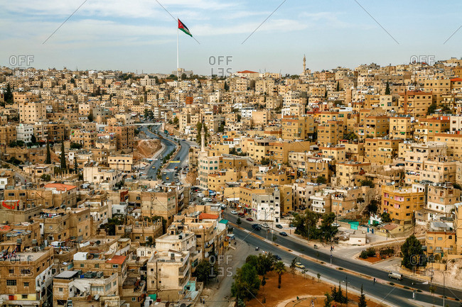 View over the city from the Citadel in Amman, Jordan