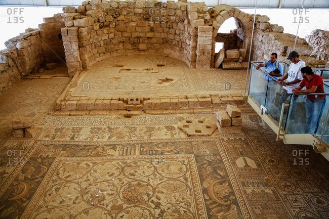 Umm Ar-Rasas, Jordan - November, 2010: Mosaics at St. Stephen church in Umm Ar-Rasas, Jordan