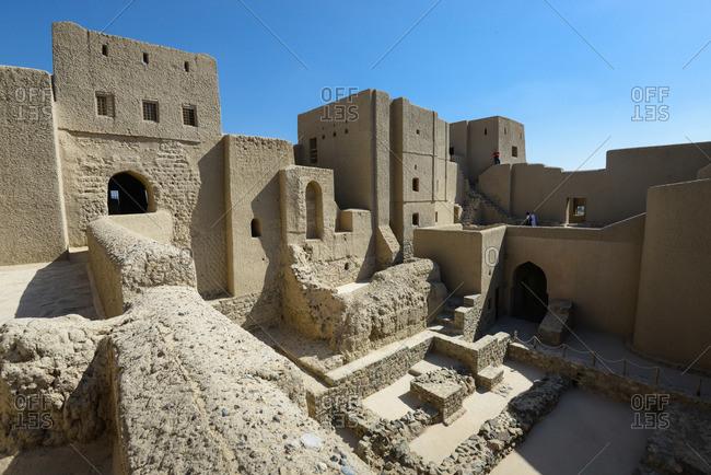 Bahla, Oman - February 5, 2015: Inside of Bahla Fort, Bahla, Oman