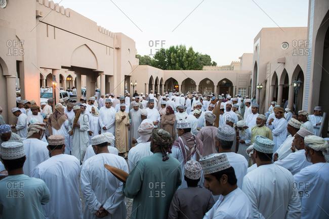 Nizwa, Oman - February 6, 2015: Date palm pollen auction