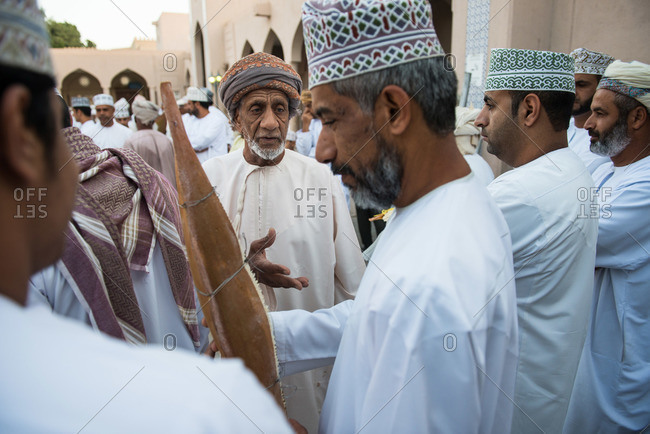 Nizwa, Oman - February 6, 2015: Date palm pollen being auctioned