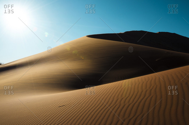 Dunes landscape at sunset in Namib Desert, Namibia