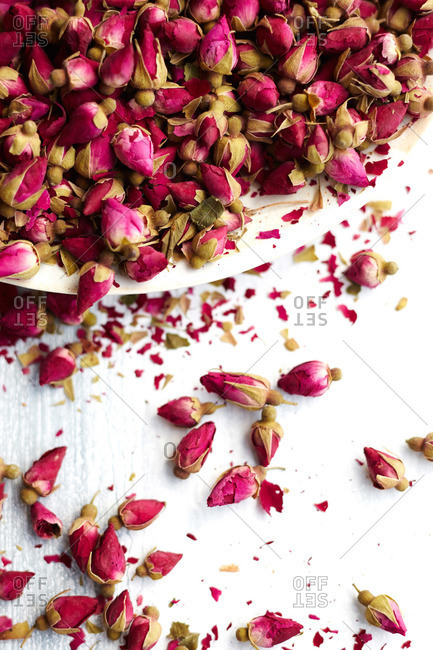 Small rose buds used for baking