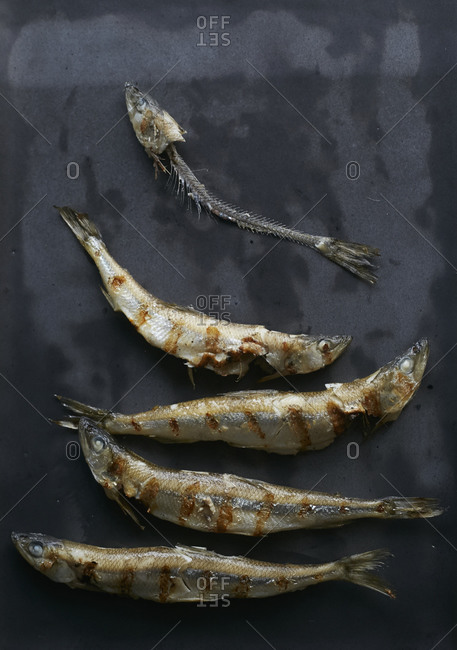Grilled smelts