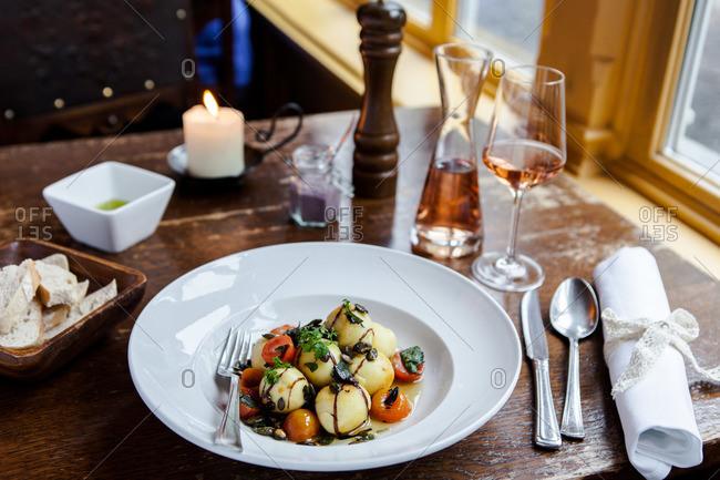 Gnocchi and tomato dish