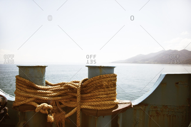 Rope tied on ship, Thailand