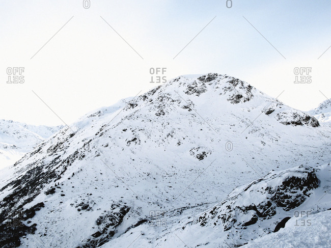 Snow covered mountain in the Alps