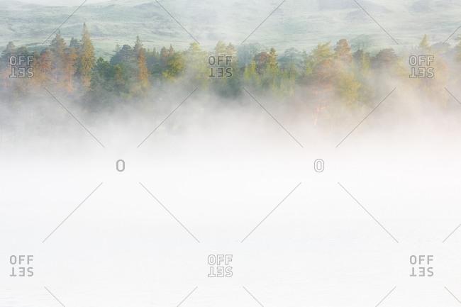Light and fog at Loch Tulla, Loch Tulla, Western Highlands, Scotland