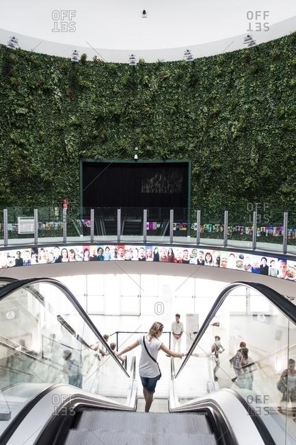 Milan, Italy - December 28, 2015: Korea Pavilion at the Milan Universal Exposition 2015