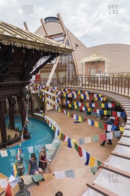 Milan, Italy - December 28, 2015: Nepal pavilion at the Milan Universal Exposition 2015