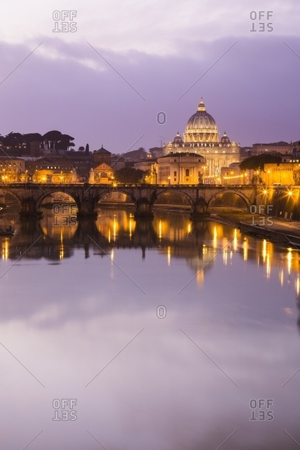 Rome at sunset, Rome, Italy