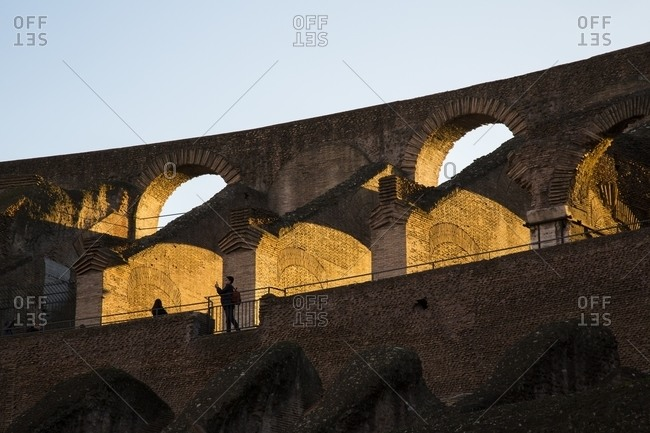 Rome, Italy - January 12, 2015: Colosseum at sunset