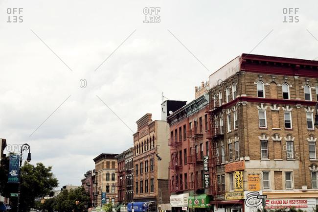 Historic brick buildings in Brooklyn