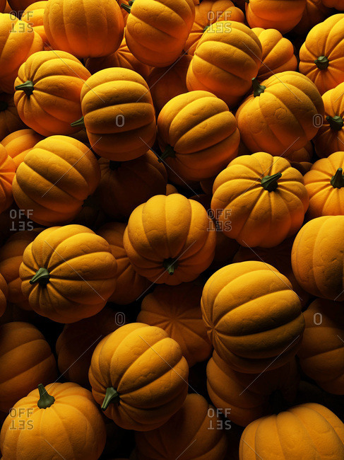 3-D illustration of pumpkins
