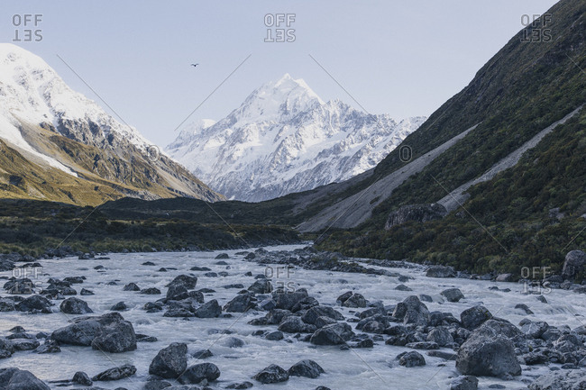 Mount Cook from Hooker Valley, South Island, New Zealand