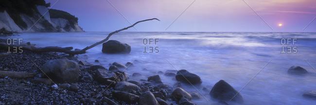 Rocky beach on Baltic Sea, Germany
