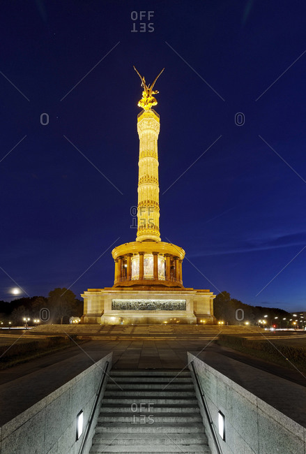 Victory Column in the evening, Berlin, Germany