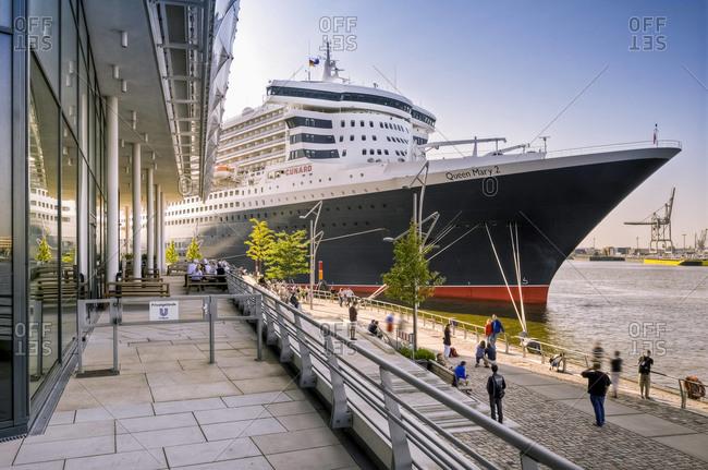 Hamburg, German - July 25, 2012: Cruise ship in port