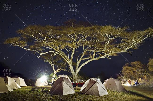 Africa, Tanzania, East Africa, Serengeti tented camp, campground,