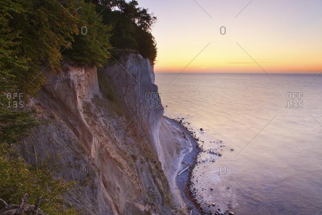 Baltic Sea coast at sunrise