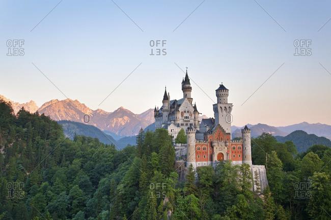 Neuschwanstein Castle in German alps