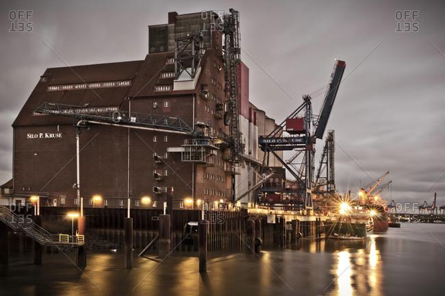 Hamburg, Germany - July 7, 2011: Building at seaport