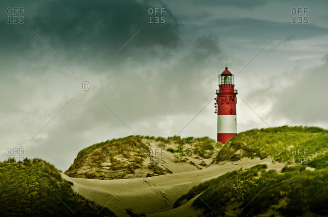 Lighthouse in dunes, northern Germany