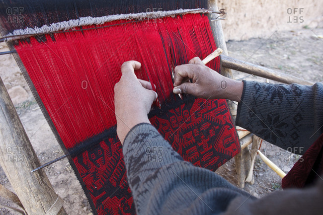 Weaving hands in Bolivia