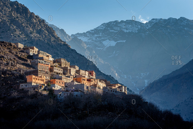 Berber village in the High Atlas Mountains, Morocco