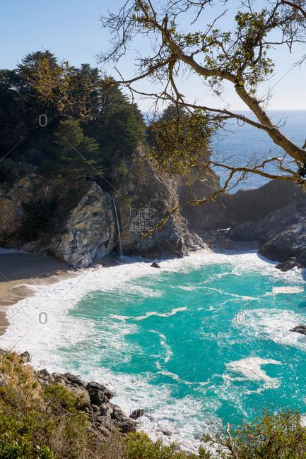 View of bay near Big Sur, California, USA
