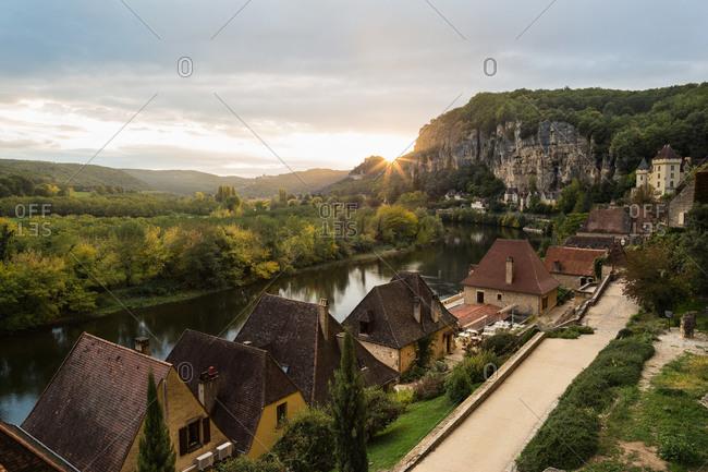 Path through La Roque-Gageac, Dordogne, France