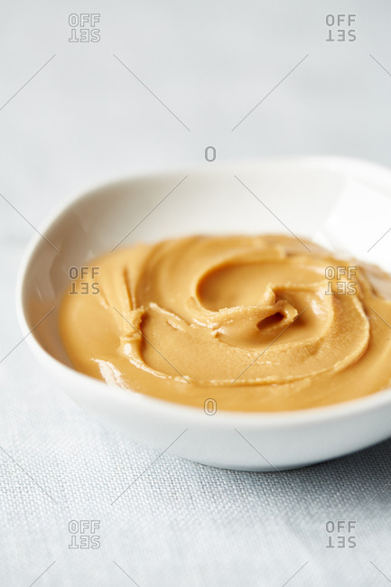 Small bowl of peanut butter