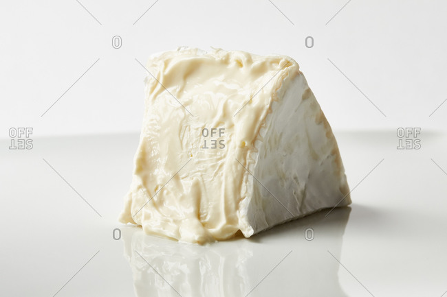 Slice of brie cheese