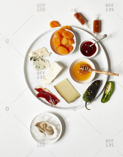 Tray with a variety of snacks