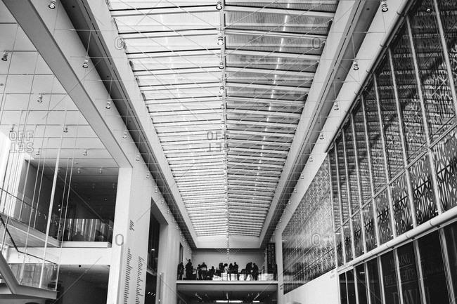 Chicago, Illinois - January 2, 2016: Interior of the Art institute of Chicago