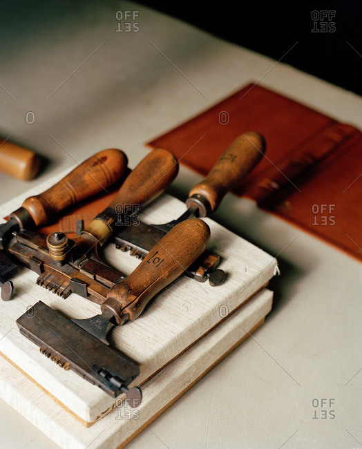 Printing tools set with type