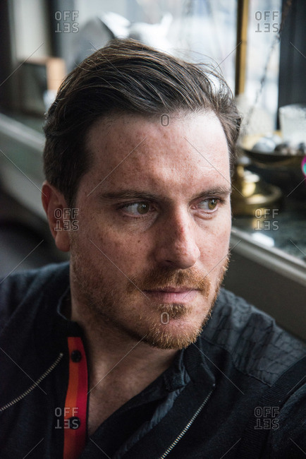 New York City - August 19, 2012: Head and shoulders portrait of Chef Seamus Mullen