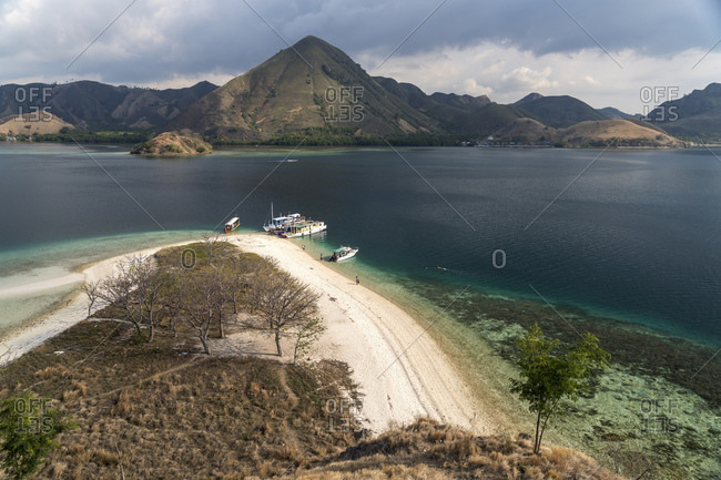 Beach of Kelor Island on the edge of Komodo National Park