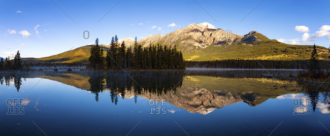 Pyramid Lake and Mountain in Jasper National Park