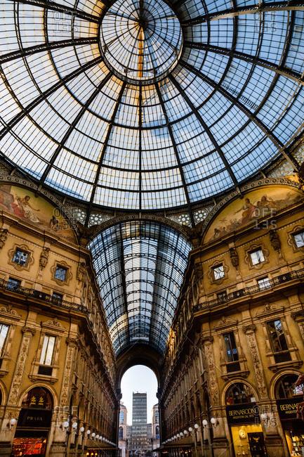 Milan, Italy - October 14, 2013: Galleria Vittorio Emanuele II, Milan, Italy