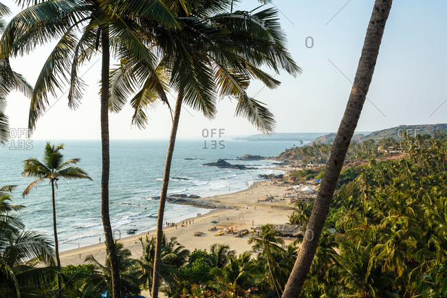 View over Vagator beach, Goa, India