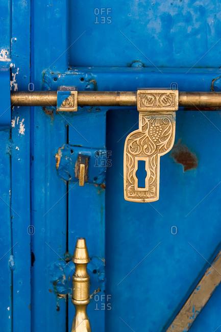 Close up of door lock, Oman